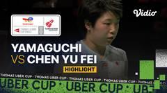 Highlight Match 1   Jepang vs China   Akane Yamaguchi  vs Chen Yu Fei   Thomas & Uber Cup 2020