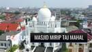 Cantik dan Megah, Ini Dia Masjid Ramlie Mustofa Mirip Taj Mahal yang Terletak di Tepi Danau