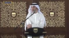Oded M. Danial bersama Wakil Dubes Negara Kuwait, Faisal Jaseem Al-Jeeran menyerahkan bantuan bagi warga kutang mampu