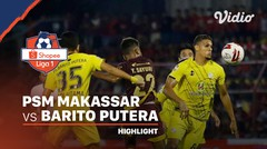 Highlights - PSM Makassar 1 vs 1 Barito Putera | Shopee Liga 1 2020