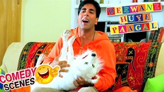 Akshay Kumar Trying To Wake Up The Dog | Comedy Scene | Deewane Huye Paagal | Hindi Film