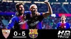 Barcelona vs Sevilla 5-0 Copa del rey Final