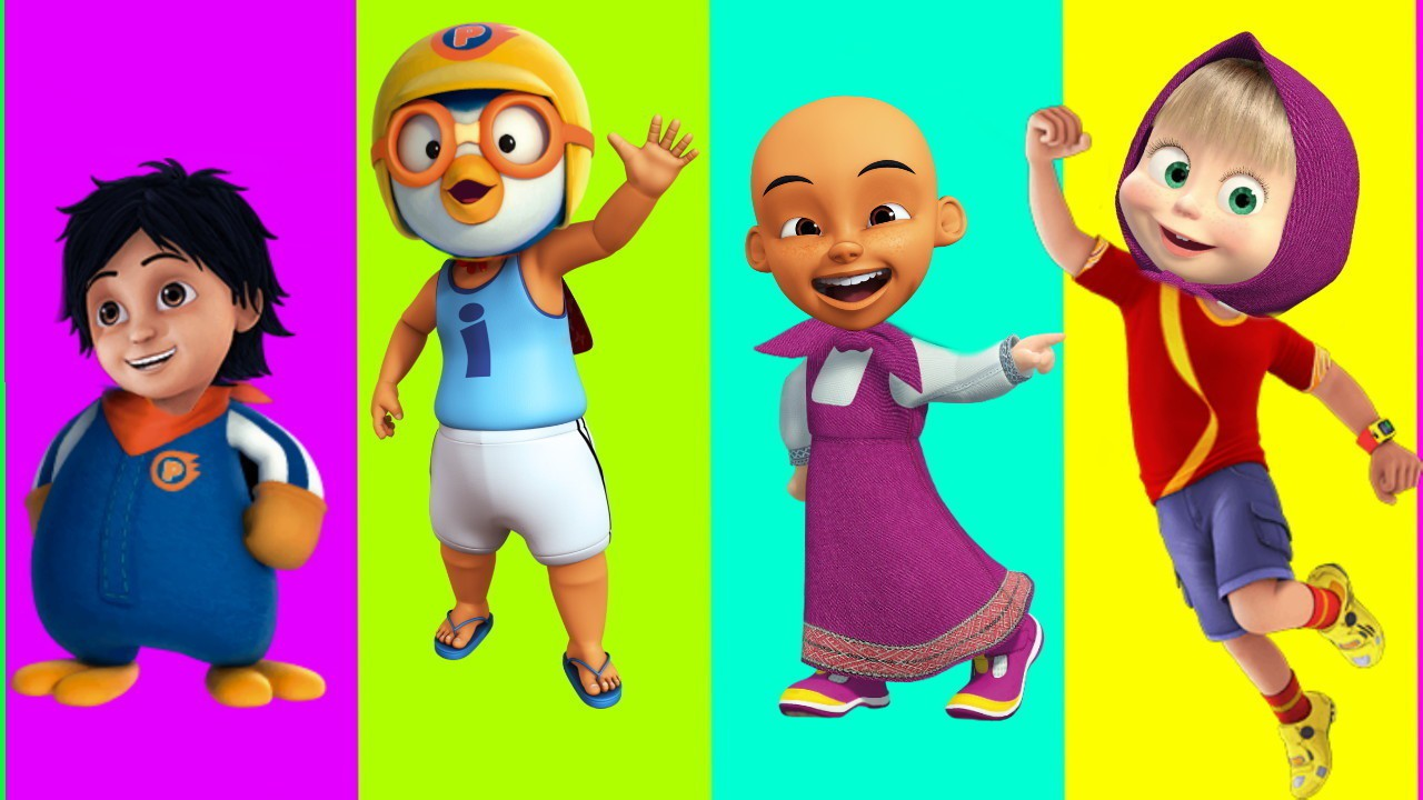 Lagu Anak Anak Wrong Heads Pororo Upin Ipin Shiva Antv Masha And The Bear Finger Family Learn Colors For Kids Nursery Rhymes For Kids
