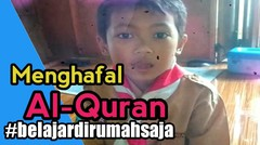 Anak kecil pandai dan pintar,Menghafal Surat At-Takatsur dan Al-Ashr