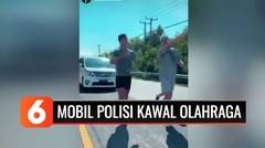Viral Mobil Polisi Kawal 3 Warga Jogging di Jalan Bali
