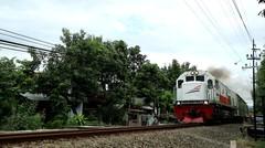 Kereta Api BRANTAS KA 175 Lokomotif CC 201 77 21 DIPO INDUK CN