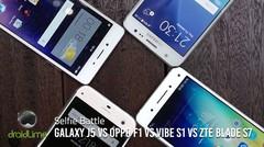 Galaxy J5 vs F1 vs VIBE S1 vs Blade S7 - Selfie Battle