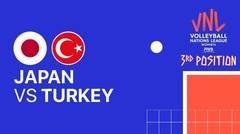 Full Match   3rd Position   VNL WOMEN'S - Japan vs Turkey   Volleyball Nations League 2021