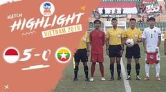 Full Highlight 3rd Playoff  - Indonesia 5 VS 0 Myanmar   Piala AFF U-18 2019