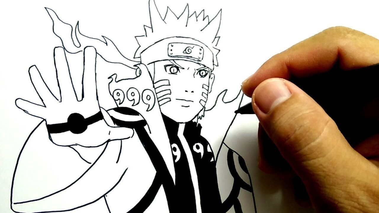 Cara Menggambar Naruto Kyubi Gampang Ban Tt How To Draw Naruto Kyubi Mode