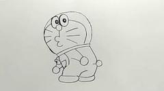 cara mudah menggambar doraemon untuk anak kecil / easy way to draw doraemon