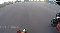 GoPro satria fu vs duo mio - road race practice