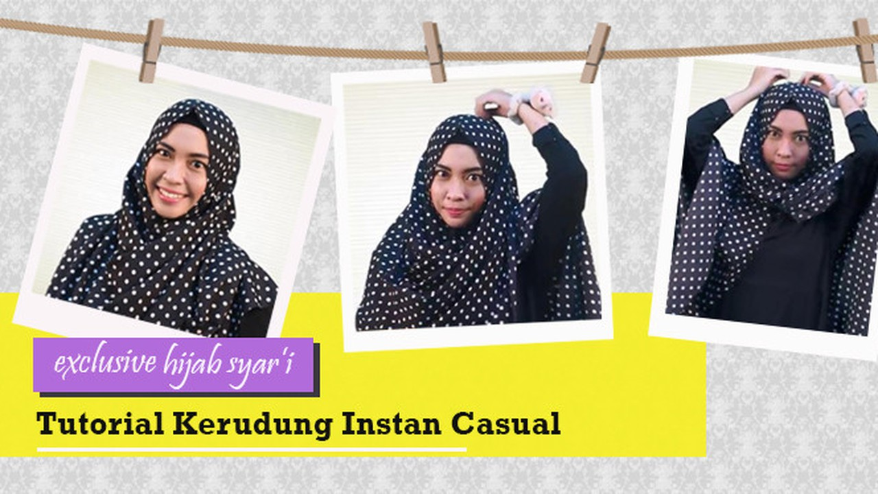 Streaming Exclusive Hijab Syar I Tutorial Kerudung Instan Casual Vidio