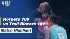 Match Highlight | Charlotte Hornets 109 vs 101 Portland Trail Blazers | NBA Regular Season 2020/21