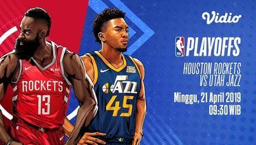 [21 Apr 09:30] Live Streaming NBA Playoffs - Houston Rockets vs Utah Jazz