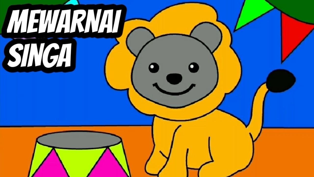Coloring Book Learning Color For Kids Belajar Mewarnai Singa Untuk Anak TK Dan PAUD 13