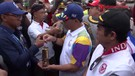 Wakil Bupati Lamteng Sambut Kirab Api Asian Games