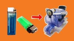 Ide membuat miniatur Vespa dari Korek Gas