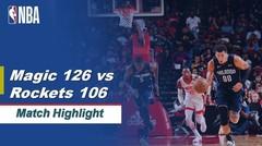 Match Highlight | Orlando Magic 126 vs 106 Houston Rockets | NBA Regular Season 2019/20