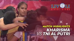 Match Highlight Perebutan Juara 3 - Kharisma 0 vs 3 TNI AL Putri | Livoli 2019