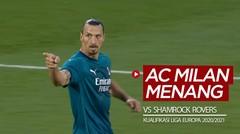 Gol Zlatan Ibrahimovic dan Hakan Calhanoglu Saat Antar AC Milan Menang Vs Shamrock Rovers