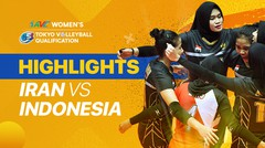 Match Highlight | Indonesia 3 vs 2 Iran | AVC Women's 2020 Volleyball Qualification