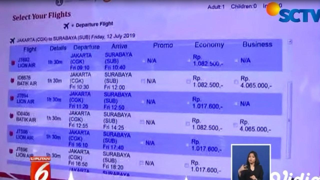 Streaming Tiket Pesawat Hari Ini Turun Penerapan Belum Terlihat Di Bandara Soetta Liputan 6 Siang Vidio Com