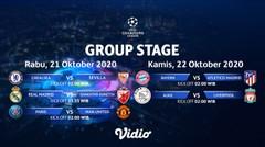 Jadwal Pertandingan   Group Stage Champions League   Matchday 01 21-22 Oktober 2020