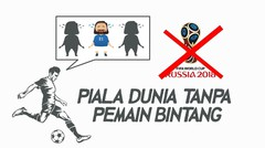 Sedih! Piala Dunia 2018 Tanpa 8 Pemain Bintang Ini