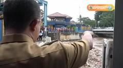 Gub Anies R. Baswedan meninjau Pintu Air Manggarai - 5 Mar 2018