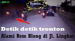 Detik Detik Tronton Mengalami Rem Blong dan Menabrak Beberapa Kendaraan Lain