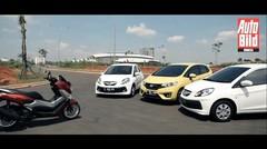 Komparasi Yamaha NMax VS Honda Brio VS Brio Satya VS Jazz