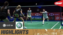 Match Highlight | Yuki Fukushima/Sayaka Hirota (Jepang) 2 vs 0 Selena Piek/Cheryl Seinen (Belanda) | Yonex All England Open Badminton Championship 2021