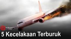 Inilah Lima Kecelakaan Pesawat Terburuk di Indonesia !
