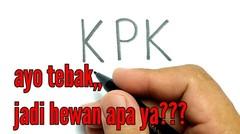 WOW, cara menggambar kata KPK jadi gambar HEWAN apa ya