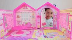 Unboxing Rumah Boneka Mell Chan Super Besar & Super Cute - Mell Chan Doll House