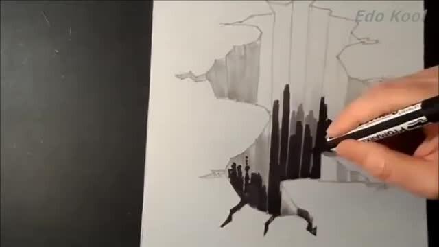 Streaming Cara Membuat Gambar Lubang Jurang 3 Dimensi Menggunakan Pensil Vidio Com