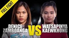 Denice Zamboanga vs. Watsapinya Kaewkhong | ONE Championship Full Fight