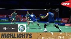 Match Highlight | Takeshi Kamura/Keigo Sonoda (Jepang) 2 vs 0 Kim Astrup/Anders Skaarup Rasmussen (Denmark) | Yonex All England Open Badminton Championship 2021