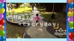 Baby Raesha Happy Maen di Taman