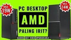 PC Desktop AMD yang Irit Daya dan Dingin- Review PC Lenovo ThinkCentre M75S dan V55T