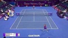 Match Highlights   Petra Kvitova 2 vs 0 Jessica Pegula   WTA Qatar Total Open 2021