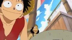 Moment Luffy belajar Menembak
