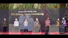 Presiden Meresmikan Pabrik Gula di Bombana, Sulawesi Tenggara
