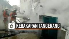 Kebakaran Pabrik Pengolahan Plastik di Kota Tangerang