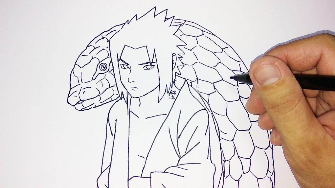 Cara Menggambar Sasuke Dengan Mudah How To Draw Sasuke Easy