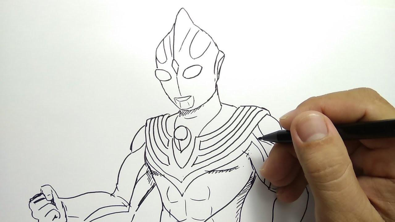 Cara Menggambar ULTRAMAN TIGA How To Draw ULTRAMAN TIGA