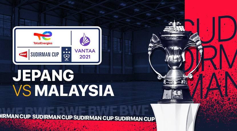 Live Streaming Sudirman Cup 2021 Japan vs Malaysia