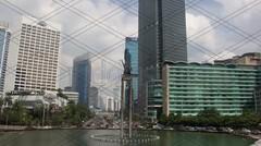 [4K] Timelapse Bundaran Hotel Indonesia (Day  Night) - stock footage