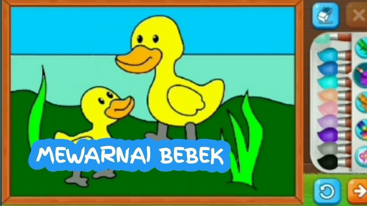 Belajar Menggambar Dan Mewarnai Bebek Lucu Untuk Anak TK Dan PAUD 3